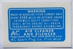 Decal6 non-SC air cleaner
