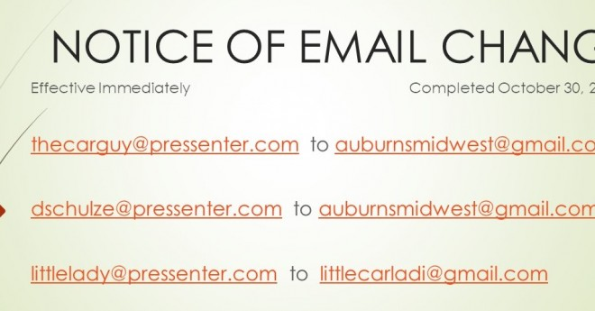 EMAIL CHANGE
